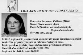 An ID card for a human rights monitor