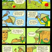 Comic strip to teach people about trade policies
