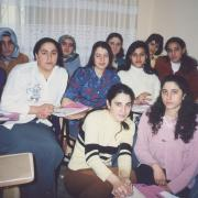 Women participating in the human rights education program