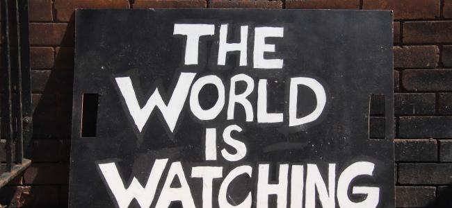 BLM_The World is Watching Sign